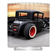 1929 Ford 'rock N Roll' Coupe Shower Curtain