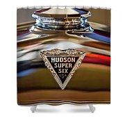 1929 Hudson Cabriolet Hood Ornament Shower Curtain