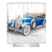 1929 Packard Dual Cowl Phaeton Shower Curtain