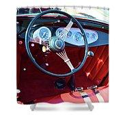 1929 Roadster Dashboard Shower Curtain