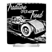 1929 Roadster Design Shower Curtain