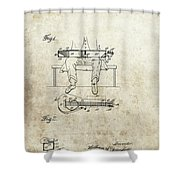 1929 Steel Guitar Patent Shower Curtain