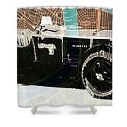 1930 Bentley 4.5 Litre Over New Orleans Old Map Shower Curtain