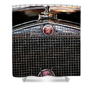 1930 Cadillac Roadster Hood Ornament 3 Shower Curtain by Jill Reger