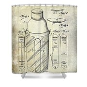 1930 Cocktail Shaker Patent Shower Curtain
