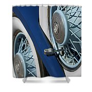 1930 Db Dodge Spare Tire Shower Curtain