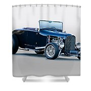 1930 Ford 'blu Mood' Roadster Shower Curtain