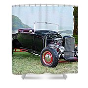 1930 Ford Model A Roadster 'oceanside' Shower Curtain