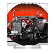 1930 Ford 'red Ball Express' II Shower Curtain