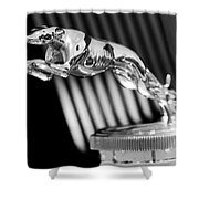 1930 Lincoln Berline Hood Ornament Shower Curtain