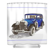 1930 Lincoln L Berline Shower Curtain