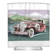 1930 Model J  Duesenberg Shower Curtain