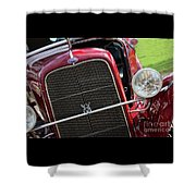 1930 Red Ford Model A-front-8886 Shower Curtain
