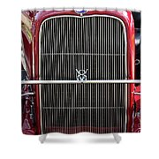 1930 Red Ford Model A-grill-8885 Shower Curtain