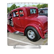 1930 Red Ford Model A-rear-8902 Shower Curtain