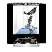 1930 Rolls Royce Mascot And Car Shower Curtain