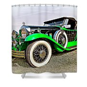 1930 Willys Knight 66b-plaidside Shower Curtain