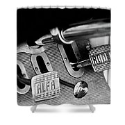 1931 Alfa Romeo 6c 1750 Gran Sport Aprile Spider Corsa Pedals -3689bw Shower Curtain