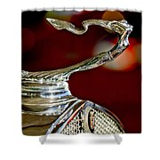 1931 Cadillac 355 A Roadster Hood Ornament Shower Curtain