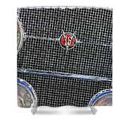 1931 Cadillac Phaeton Grille And Headlights Shower Curtain