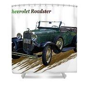 1931 Chevrolet Antique Roadster Shower Curtain