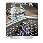 1931 Chevrolet Hood Ornament 2 Shower Curtain