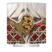 1931 Chrysler Cg Imperial Lebaron Roadster Grille Emblem Shower Curtain by Jill Reger