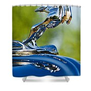 1931 Chrysler Cn Roadster Hood Ornament 2 Shower Curtain