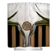1931 Chrysler Coupe Grille Emblem Shower Curtain