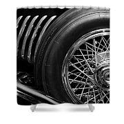 1931 Duesenberg Model J Spare Tire 2 Shower Curtain