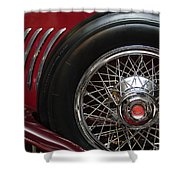 1931 Duesenberg Model J Spare Tire Shower Curtain