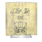 1931 Dump Truck Patent Shower Curtain