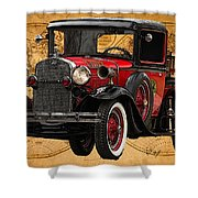 1931 Ford Model A Fire Truck Shower Curtain