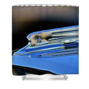 1931 Marmon Sixteen Coupe Hood Ornament 2 Shower Curtain by Jill Reger