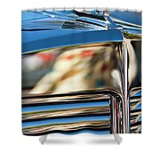 1931 Marmon Sixteen Coupe Hood Ornament Shower Curtain