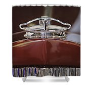 1931 Packard 840 Roadster Hood Ornament Shower Curtain