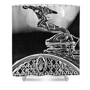 1931 Packard Convertible Victoria Hood Ornament 2 Shower Curtain