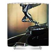 1932 Auburn 12-160 Speedster Hood Ornament Shower Curtain