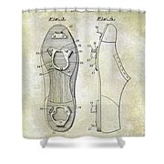 1932 Baseball Cleat Patent Shower Curtain