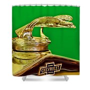 1932 Chevrolet Eagle Hood Ornament Shower Curtain