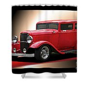 1932 Ford 'cherry Bomb' Sedan Shower Curtain