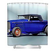 1932 Ford 'classic Hiboy' Roadster Xa Shower Curtain