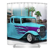 1932 Ford 'down Town' Coupe Shower Curtain