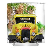 1932 Ford Five-window Coupe 'head On' I Shower Curtain