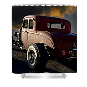 1932 Ford Five Window Coupe 'leaving Town' Shower Curtain