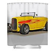 1932 Ford 'flame Game' Roadster Shower Curtain