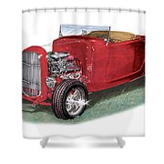 1932 Ford Hi-boy Hot Rod Shower Curtain