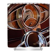 1932 Ford Hot Rod Speedometer Shower Curtain