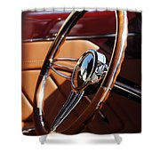 1932 Ford Hot Rod Steering Wheel 2 Shower Curtain