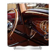 1932 Ford Hot Rod Steering Wheel 3 Shower Curtain